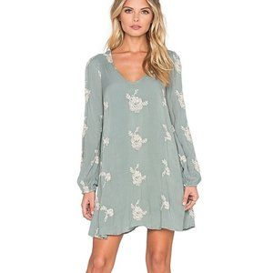 Emma's Embroidered Dress in Misty Green